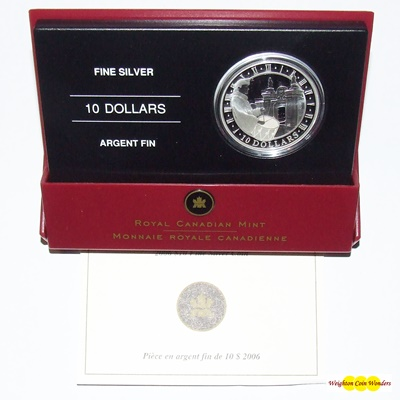 2006 $10 Silver Proof Coin – Fortress of Louisbourg